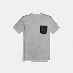 COACH F75710 - ESSENTIAL T-SHIRT HEATHER GREY