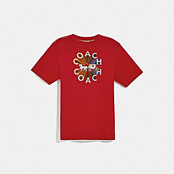 COACH F75712 Coach Graphic T-shirt RED