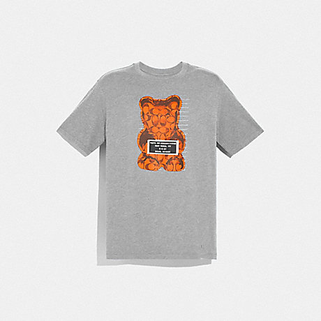COACH F75718 VANDAL GUMMY T-SHIRT HEATHER GREY
