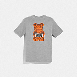 COACH F75718 - VANDAL GUMMY T-SHIRT HEATHER GREY