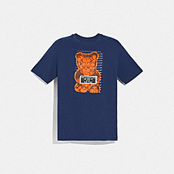 COACH F75718 - VANDAL GUMMY T-SHIRT NAVY