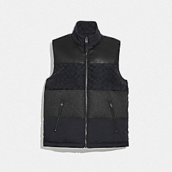 COACH F75720 - PATCHWORK DOWN VEST BLACK/BLACK