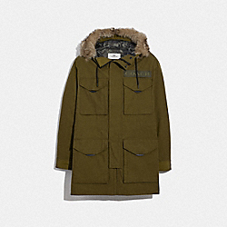 COACH F75765 - 3-IN-1 PARKA WITH SHEARLING OLIVE