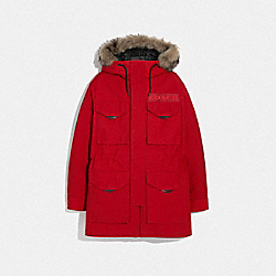 COACH F75765 3-in-1 Parka With Shearling RED