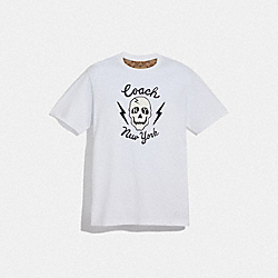 COACH F75766 Skull T-shirt WHITE