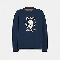 COACH F75767 Skull Sweatshirt NAVY