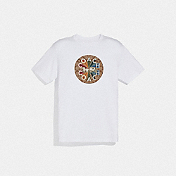 COACH F75825 Coach Graphic T-shirt WHITE