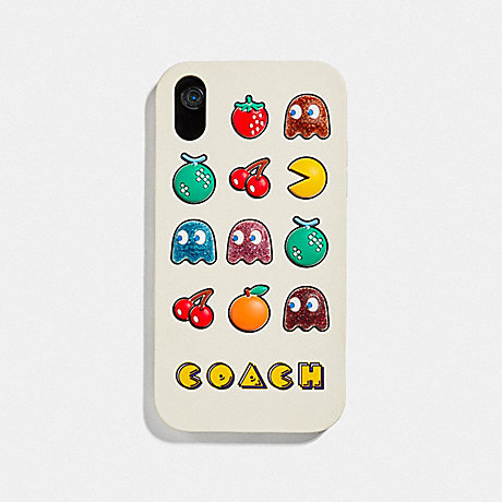 COACH F75851 IPHONE XR CASE WITH PAC-MAN MOTIF CHALK MULTI