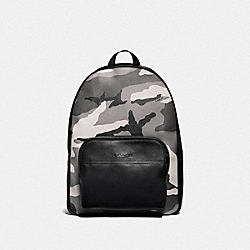 COACH F75878 - HOUSTON BACKPACK WITH CAMO PRINT BLACK ANTIQUE NICKEL/BLACK MULTI