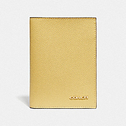 COACH F75880 Passport Case SUNFLOWER/GOLD