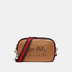 JES CONVERTIBLE BELT BAG IN COLORBLOCK - F75907 - LIGHT SADDLE/GOLD