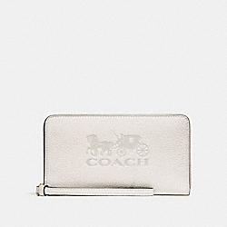 COACH F75908 - LARGE PHONE WALLET CHALK/GOLD