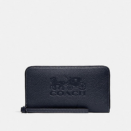 COACH LARGE PHONE WALLET - MIDNIGHT/SILVER - F75908