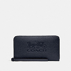 COACH F75908 Large Phone Wallet MIDNIGHT/SILVER