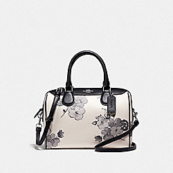 MINI BENNETT SATCHEL WITH FAIRY TALE FLORAL PRINT - F75918 - SILVER/CHALK MULTI