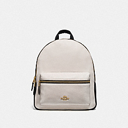 MEDIUM CHARLIE BACKPACK IN COLORBLOCK - F75919 - GOLD/CHALK/BLACK