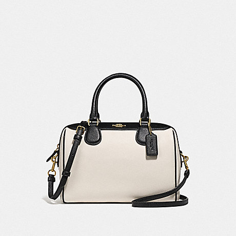 COACH F75920 MINI BENNETT SATCHEL IN COLORBLOCK GOLD/CHALK/BLACK