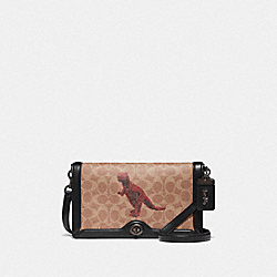 COACH F76012 - RILEY IN SIGNATURE CANVAS WITH REXY BY SUI JIANGUO V5/TAN BLACK