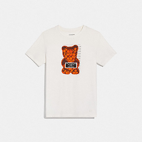 COACH F76049 VANDAL GUMMY T-SHIRT WHITE