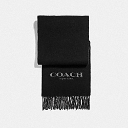 COACH F76053 - SIGNATURE SCARF BLACK/GREY