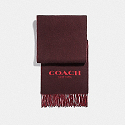 COACH F76053 Signature Scarf OXBLOOD TRUE RED