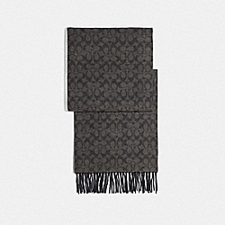 COACH F76057 - SIGNATURE SCARF BLACK/GREY
