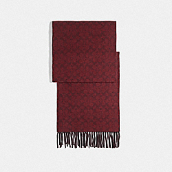 COACH F76057 Signature Scarf OXBLOOD/CRANBERRY