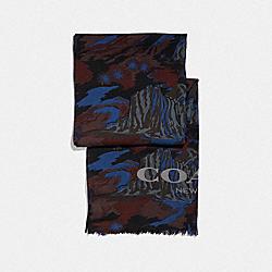 COACH F76062 - LANDSCAPE PRINT SCARF BLUE LANDSCAPE