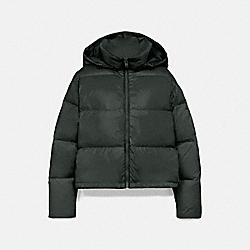 COACH F76281 Short Puffer EVERGREEN