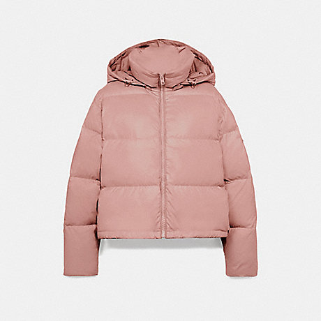 COACH F76281 SHORT PUFFER ROSE