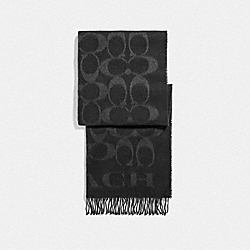 COACH F76384 - SIGNATURE OVERSIZED MUFFLER BLACK