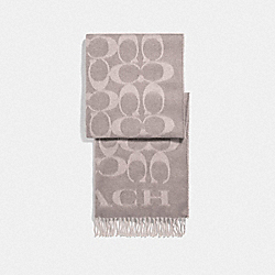 COACH F76384 - SIGNATURE OVERSIZED MUFFLER GREY BIRCH