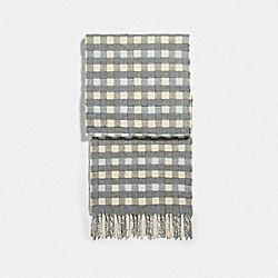COACH F76390 - REVERSIBLE SIGNATURE GINGHAM PRINT MUFFLER CHALK