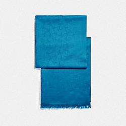 COACH F76394 Signature Wrap CERULEAN