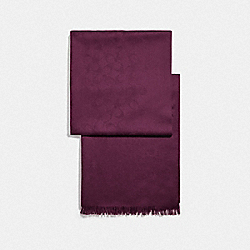 COACH F76394 - SIGNATURE WRAP DARK BERRY