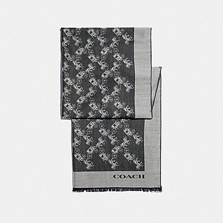 COACH F76395 HORSE AND CARRIAGE WRAP BLACK