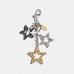 COACH F76455 Multi Star Bag Charm SV/GOLD