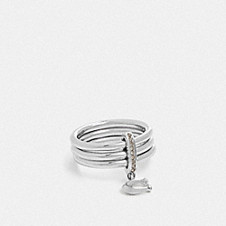 COACH F76477 Signature Charm Ring SILVER