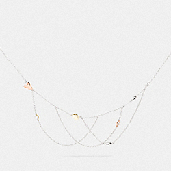 BUTTERFLY SWAGGER NECKLACE - F76478 - SV/ROSEGOLD