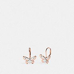 COACH F76481 Butterfly Leverback Earrings SV/ROSEGOLD
