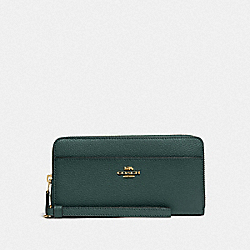 COACH F76517 Accordion Zip Wallet IM/EVERGREEN