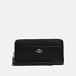 COACH F76517 Accordion Zip Wallet BLACK/GOLD