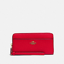 COACH F76517 - ACCORDION ZIP WALLET IM/BRIGHT RED