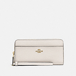 COACH F76517 Accordion Zip Wallet CHALK/GOLD