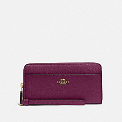 COACH F76517 - ACCORDION ZIP WALLET IM/DARK BERRY