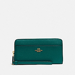 COACH F76517 Accordion Zip Wallet IM/VIRIDIAN
