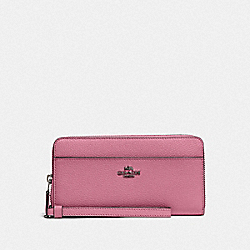COACH F76517 - ACCORDION ZIP WALLET QB/PINK ROSE