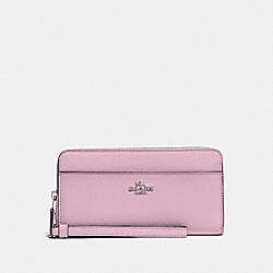 COACH F76517 Accordion Zip Wallet LILAC/SILVER