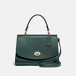 COACH F76618 - TILLY TOP HANDLE SATCHEL IM/EVERGREEN