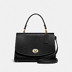 COACH F76618 Tilly Top Handle Satchel BLACK/GOLD